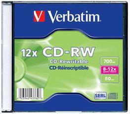 Диск CD-RW Verbatim